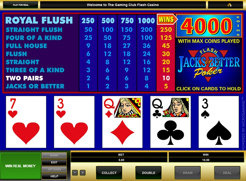 Full pay jacks or better video poker double deuce poker