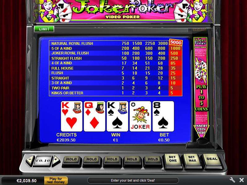Video Poker Joker
