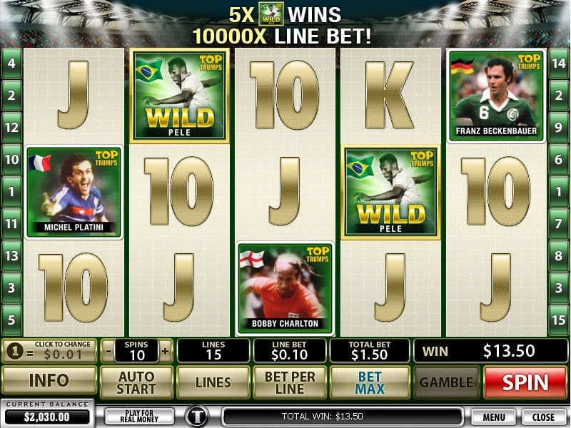 Top Trumps Football Legends Slot Machine Online ᐈ Playtech™ Casino Slots