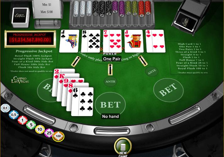 caribbean stud poker hand