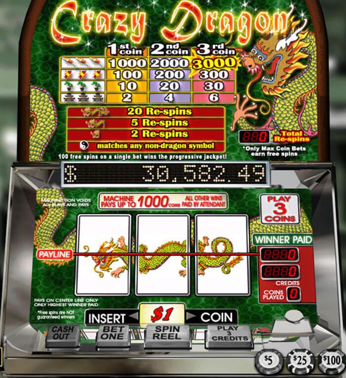 Crazy Dragon Progressive Jackpot