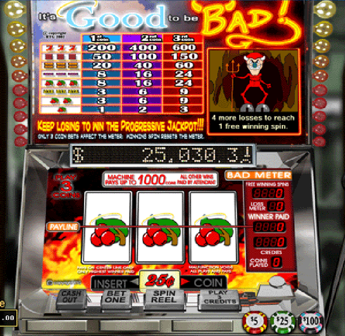 It's Good to Be Bad Progressive Jackpot