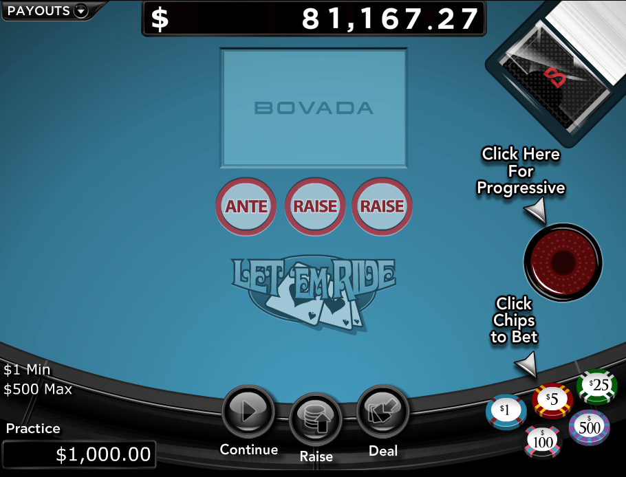 Let Em Ride Progressive Pocker Jackpot