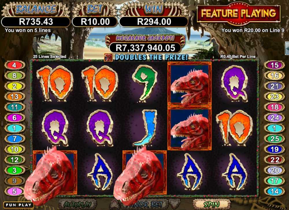 Megasaur Progressive Jackpot