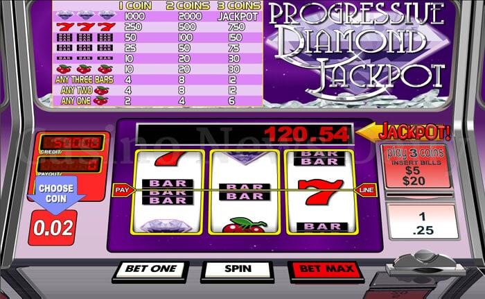 1-Progressive Diamond Jackpot Slot