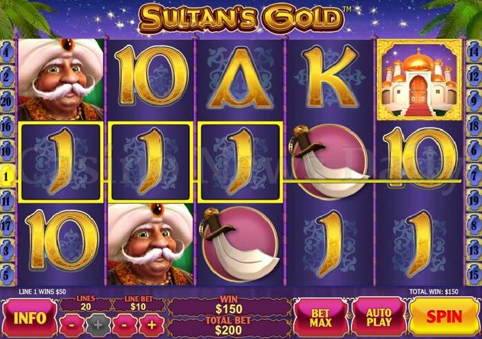 Sultan's Gold Slot playtech
