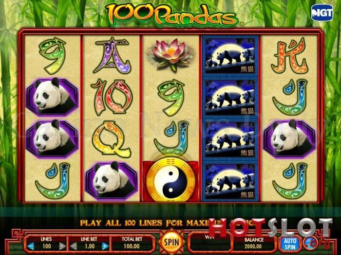 100 Pandas Slot igt