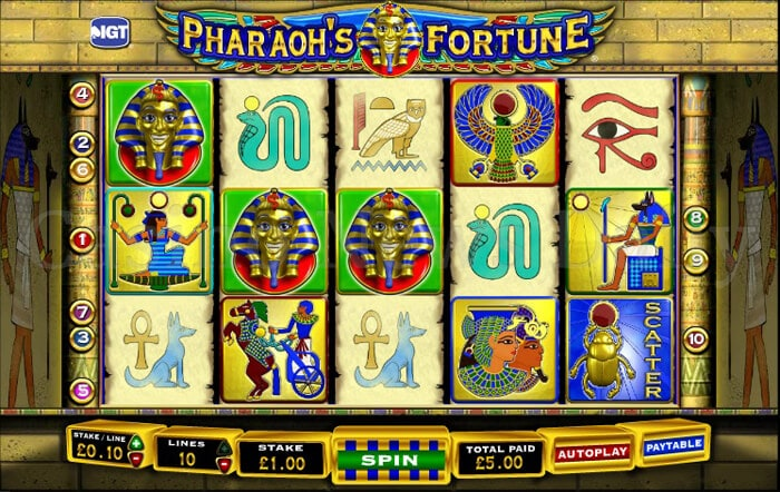 free play casino games pharaohs fortune