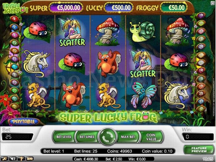 Super Lucky Frog Slot netent