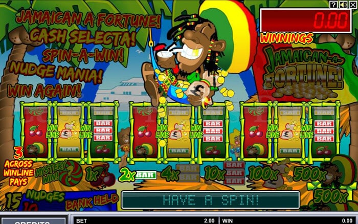 Jamaican A Fortune! Slot microgaming