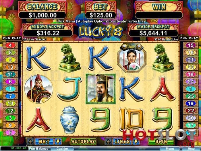 lucky 8 slot rtg