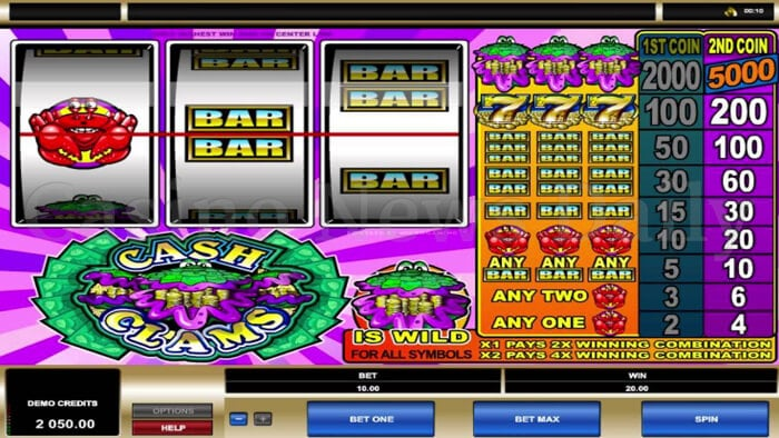 Cash Clams Slot Microgaming