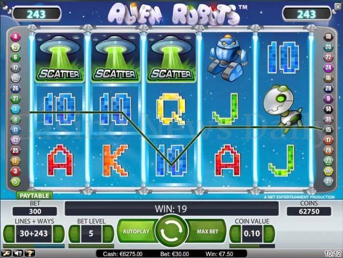 Alien Robots Online Slot