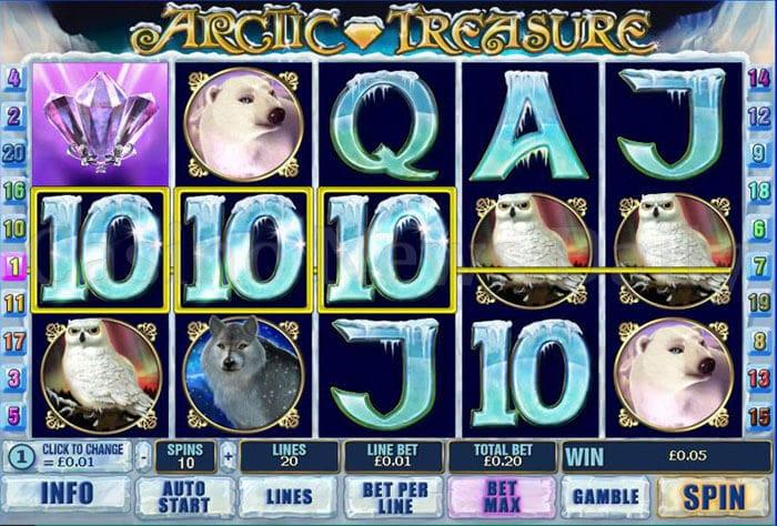 Play Artic Treasure Slots Online at Casino.com South Africa