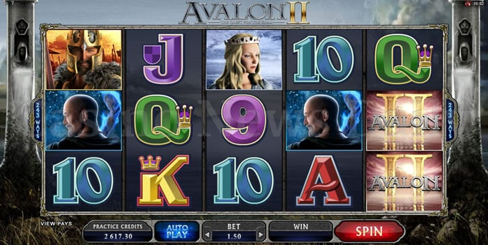 Avalon II The Quest For The Grail Slot microgaming