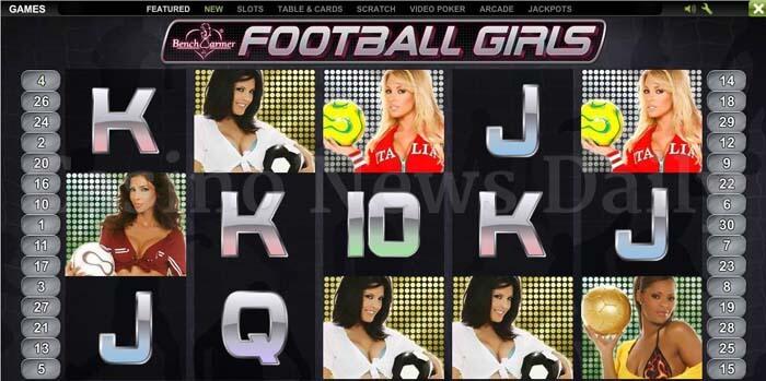 Benchwarmer Football Girls Slot playtech