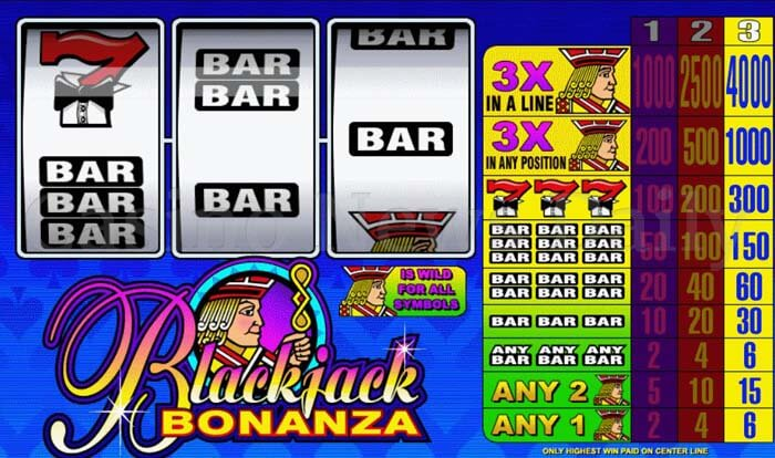 Blackjack Bonanza Slot microgaming
