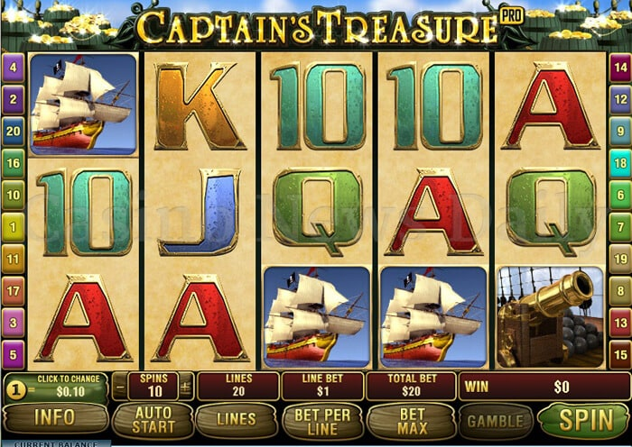 Captain's Treasure Pro Online Slot