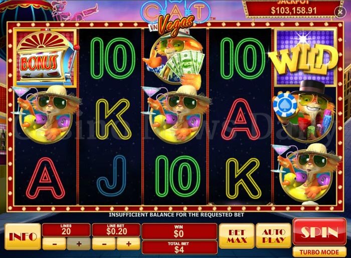Cat in Vegas Online Slot playtech