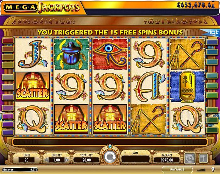 Cleopatra Mega Jackpots Slot