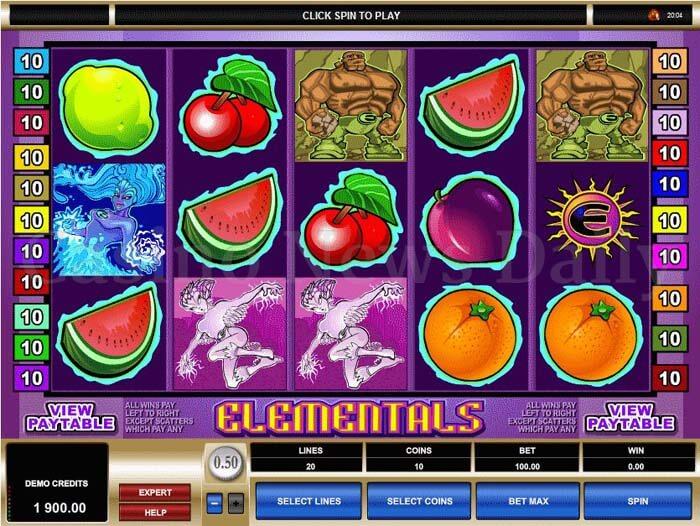Elementals slot - Gratis casinospel online från Microgaming