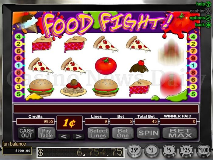 Food Fight! Slot rtg