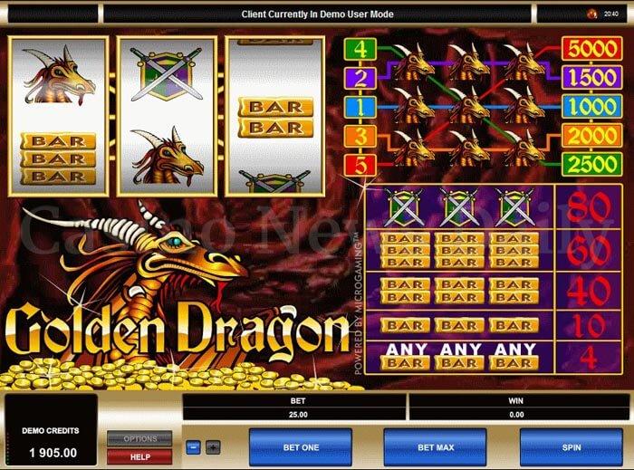 Golden Dragon Online Slot microgaming