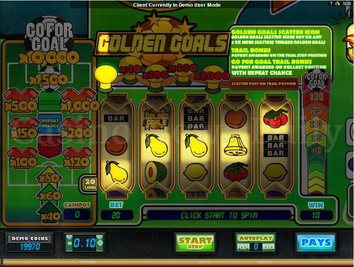 Golden Goals Slot microgaming