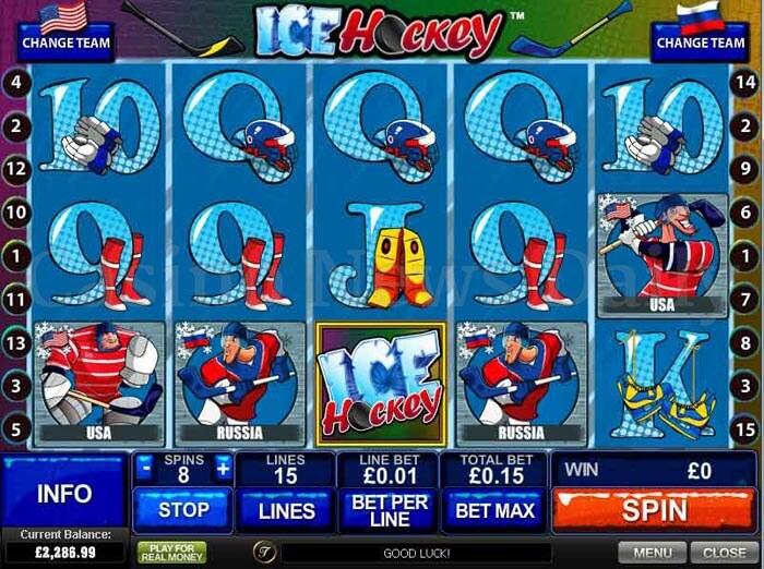 Ice Hockey Slot playtech