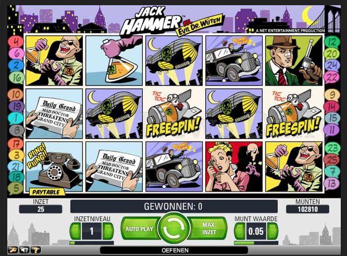 Jack Hammer Vs. Evil Dr. Wüten Online Slot