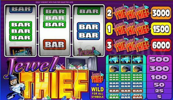 Jewel Thief Slot microgaming