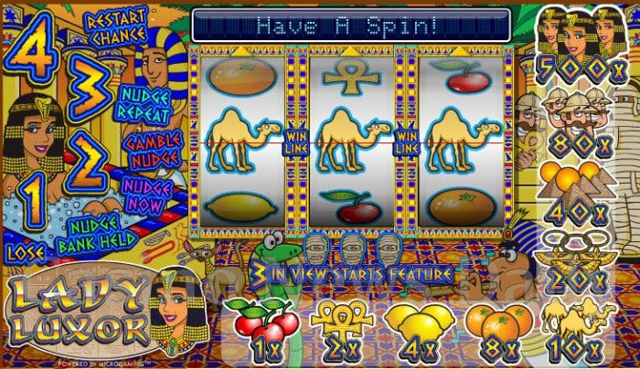Lady Luxor Slot - Play this Microgaming Casino Game Online
