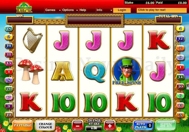 Leprechaun's Luck Slot playtech