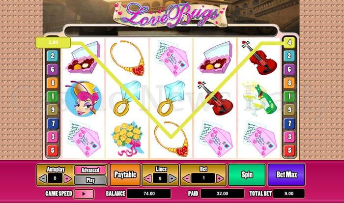 Love Bugs 9-Line Slot microgaming
