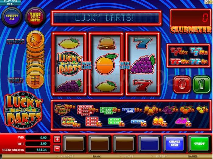 Lucky Darts Slot microgaming