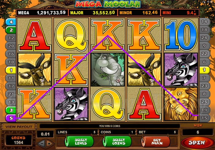 Mega Moolah Regular Gameplay Microgaming