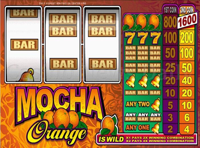 Mocha Orange Online Slot microgaming