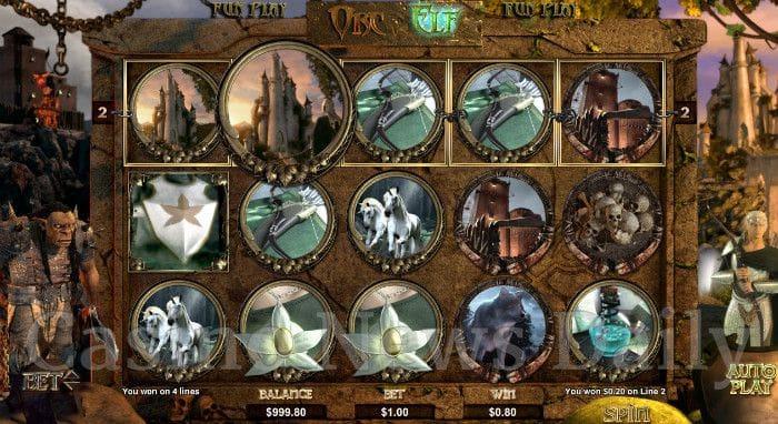 Orc vs. Elf Online Slot