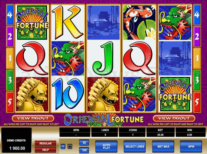 Oriental Fortune Slot microgaming