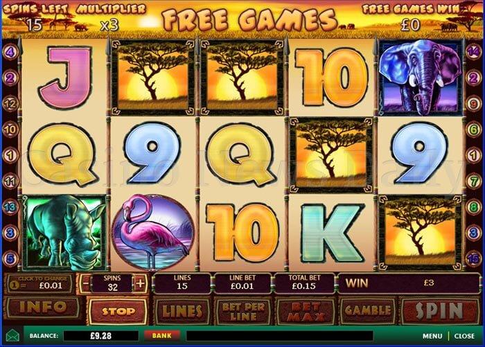Safari Heat Online Slot playtech
