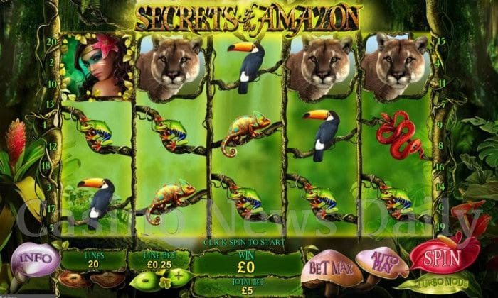 Amazon Adventure slot - spil jungle slots online