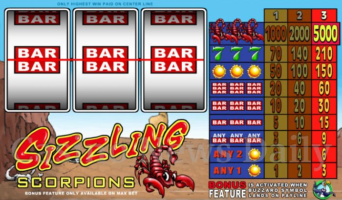 Sizzling Scorpions Online Slot
