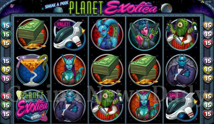 Sneak a Peek - Planet Exotica Online Slot