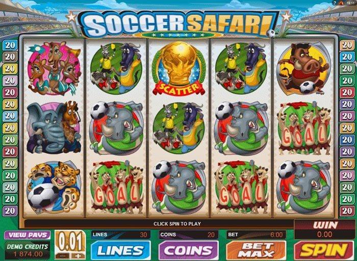 Soccer Safari Slot microgaming