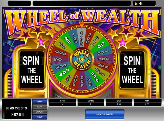 Spectacular Wheel of Wealth Slot microgaming