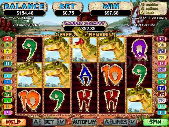Dino Island Slot - Play the Free RTG Casino Game Online