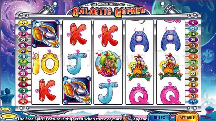 The Adventures of Galactic Gopher Online Slot
