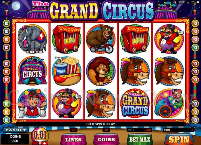 The Grand Circus Online Slot