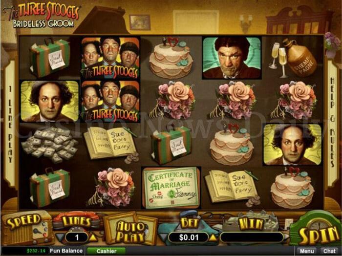 The Three Stooges: Brideless Groom Online Slot
