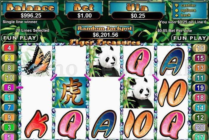 Tiger Treasures Slot rtg